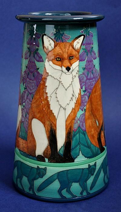 Revontulet Conical By Dennis Chinaworks Foxes amongst Foxgloves; what could be nicer?