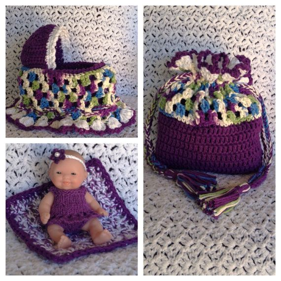 Cradle purse with Berenguer baby on Etsy, $27.95