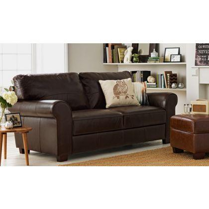 Salisbury Large Leather Sofa - Chocolate.