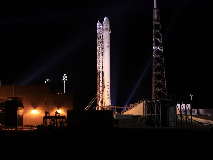 Falcon 9, on its' way right now! See it here: http://www.spacex.com/webcast/