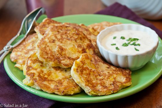 Simple squash patties, like little pancakes--serve with ranch dressing