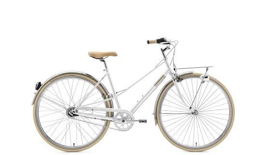 Creme Caferacer Solo - Vélo de ville Femme - Lady, 3-speed blanc