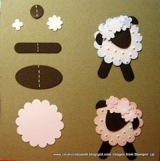 sheep crafts | via melissastampinforfun.blogspot.com