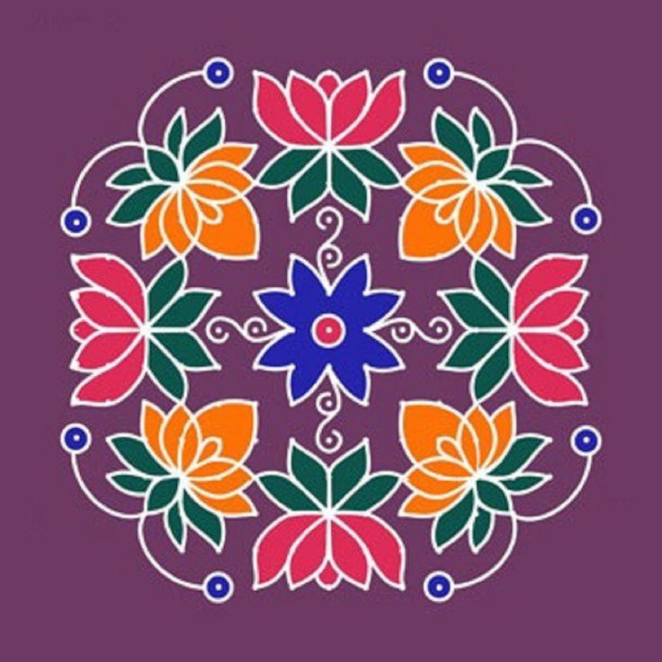 16 Best Rangoli Designs Images On Pinterest Diwali Rangoli Dot Rangoli And Mandalas