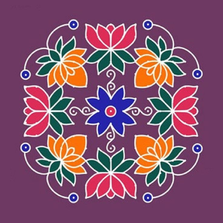 Awesome flower rangoli design