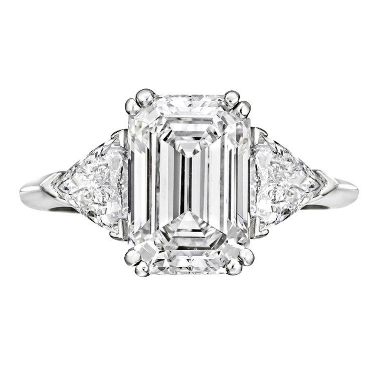 17 best ideas about emerald cut diamonds on
