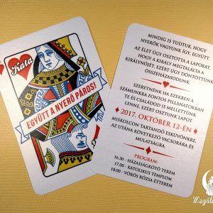 French card wedding invitation #esküvői #meghívó #nyomtatott #esküvőimeghívó #egyedi #kártya #franciakártya #wedding #weddinginvitation #card #frenchcard
