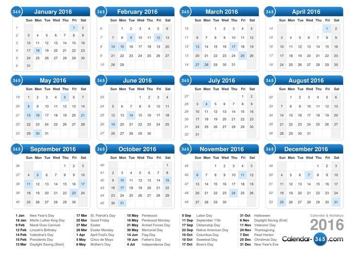 2016 calendar - Free Large Images