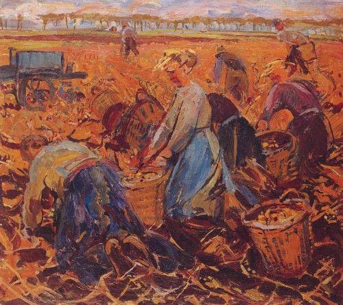 De Ploeg-schilders - aardappelrooisters - Johan Dijkstra