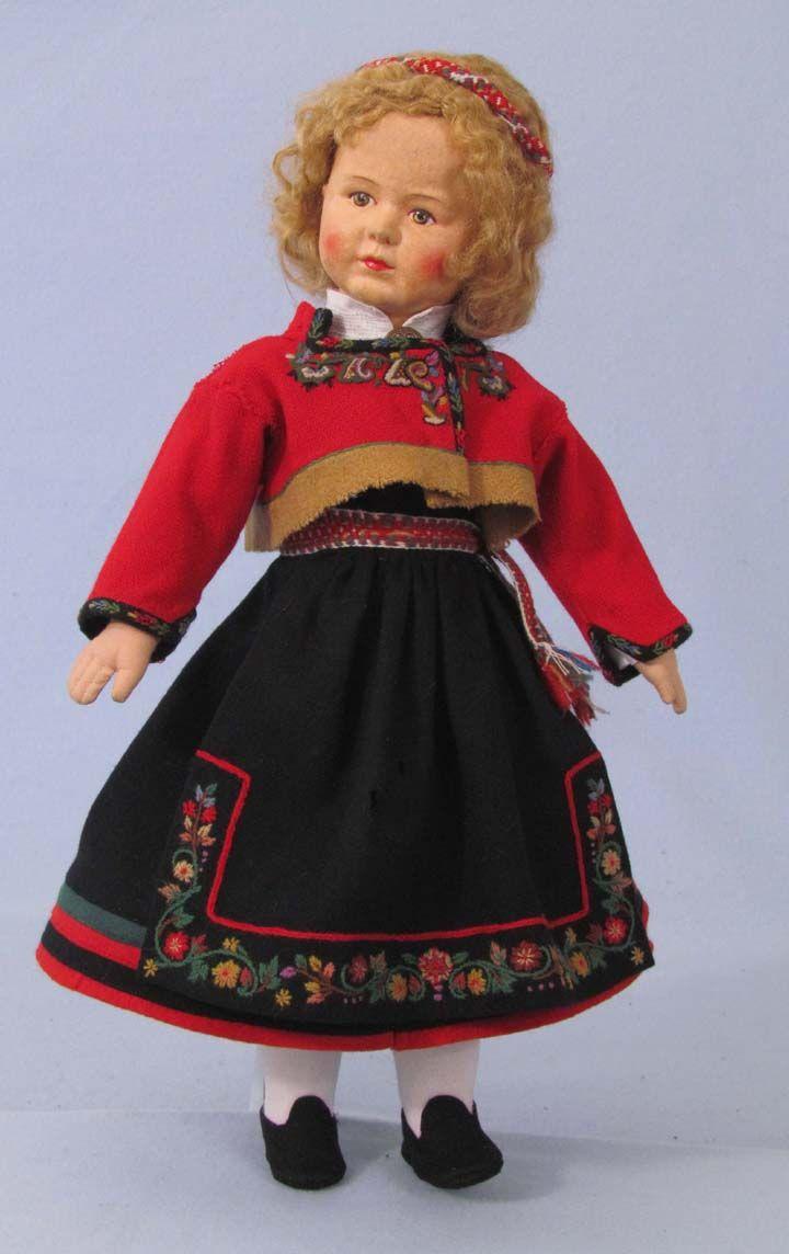 Ronnaug Petterssen doll, Heddal, restored