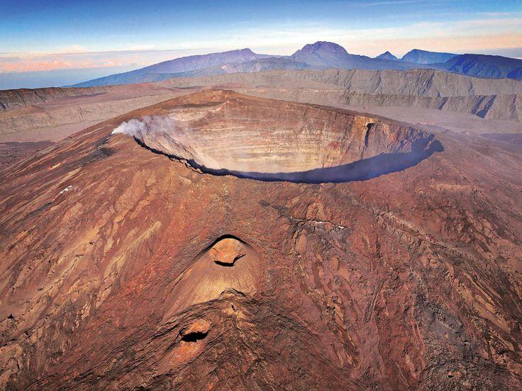 Réunion island discover Piton de la Fournaise the active volcano