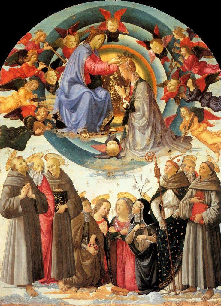 DOMENICO, il GHIRLANDAIO e aiuti - Incoronazione della Vergine di Città di Castello - tempera su tavola - 1486 circa - Pinacoteca comunale di Città di Castello.