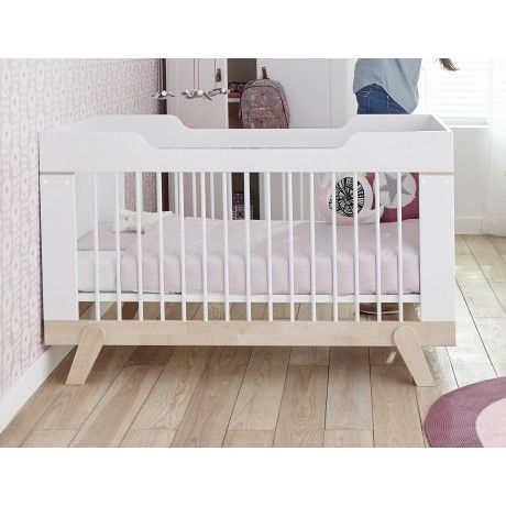 Lit bébé évolutif 70x140 bouleau blanc MALO