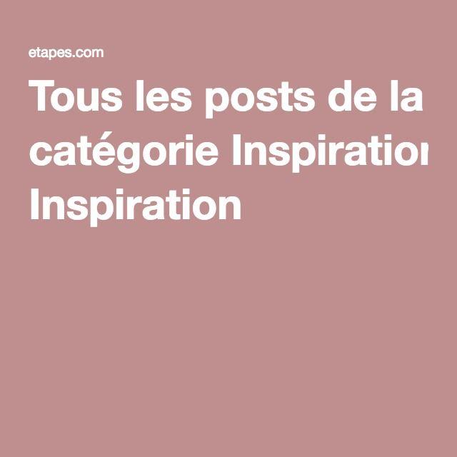 Tous les posts de la catégorie Inspiration