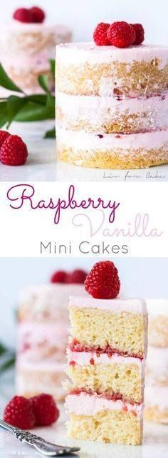 Pretty Pink Raspberr Pretty Pink Raspberry Vanilla Mini Cakes Recipe via Liv for Cake - Buttery cake with a creamy vanilla frosting layered with raspberry jam. Perfect for Valentines Day Mothers Day Easter or Showers! The BEST Bite Size Dessert Recipes - Mini Individual Yummy Treats Perfectly Pretty for Your Baby and Bridal Showers Birthday Party Dessert Tables and Holiday Celebrations! Recipe : http://ift.tt/1hGiZgA And @ItsNutella  http://ift.tt/2v8iUYW  Pretty Pink Raspberr Pretty Pink…