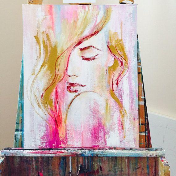 Pink Fashion Original Painting by Lana Moes