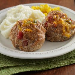 RO*TEL Mini Tex-Mex Turkey Meatloaves: Thanks to RO*TEL Tomatoes & Diced Green Chilies plus taco seasoning, this meatloaf might be even better than Mom's.