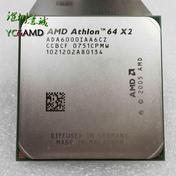 AMD Athlon 64 X2 6000+ 3.0 Ghz CACHE 2MB DUAL Core CPU Socket AM2 ADA6000IAA6CZ 940 pin