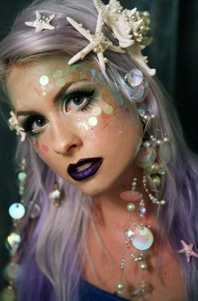 Mermaid Make Up - lovely golden scales