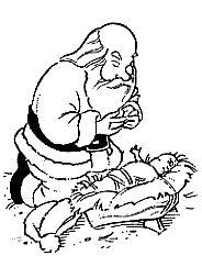 kneeling santa coloring page google search