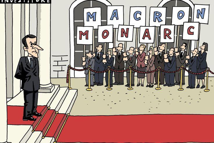 Hermann (2017-06-07) France: Vu d'Espagne. La France se plaît à retomber en monarchie. Faste, distance et autorité : avec l'arrivée d'Emmanuel Macron au pouvoir, l'Élysée reprend des airs de château républicain, estime ce journal espagnol.