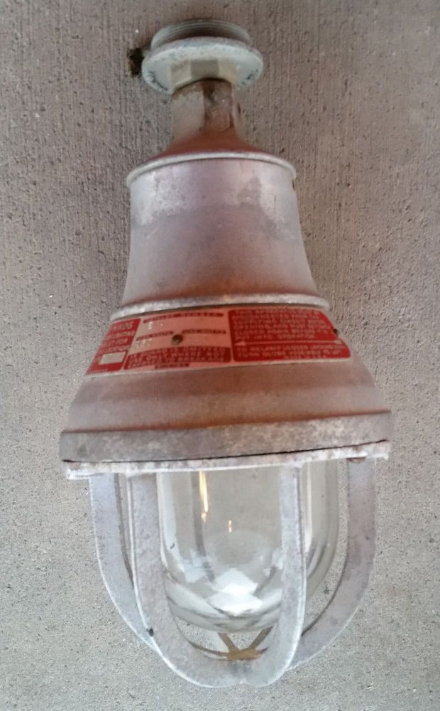 Old Crouse Hinds Explosion Proof Light Fixture Industrial