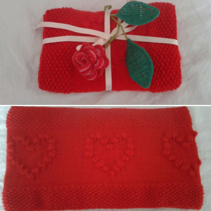 Red snood with heart for valentine's day