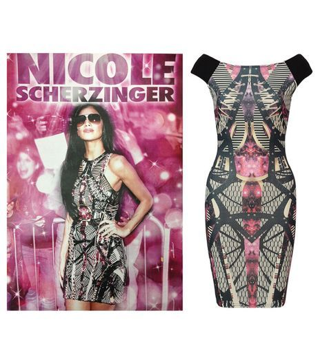 New Nicole Scherzinger styled Womens Sexy Party Galaxy Printed Midi Bodycon Celebrity Dress  Get the celebrity look for only £18.99 free uk delivery limited stock from thetrendseeker London