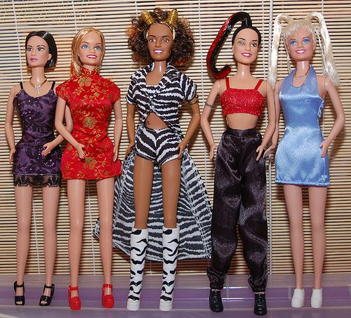 Spice Girls dolls OOOMMGG!!! I had scary spice.. she was, is and will forever be my fav spice girl! GIRL POWER ✌️!! Hehe!