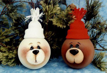 Sandy Holman bear lightbulbs.  Sorry for so many lightbulbs pins but there soooo cute!