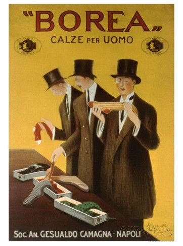 Vintage Italian Posters ~ #illustrator #Italian #posters ~  ~ Borea Stampa giclée di Leonetto Cappiello su AllPosters.it