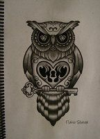 owl mexican skull by FraH on deviantART