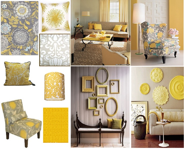Gray And Yellow Living Room Diy Fun Pinterest