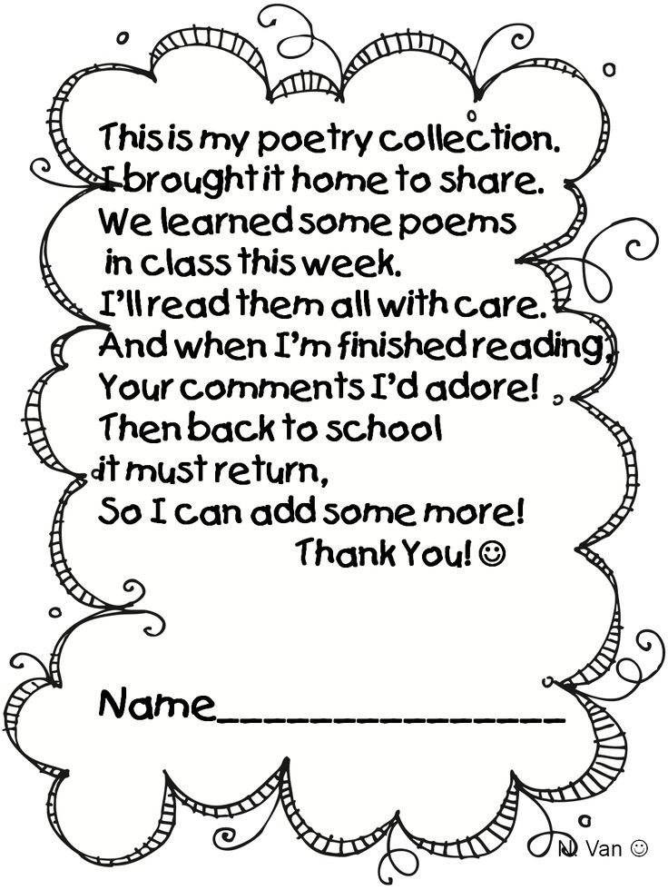 43 best Poetry Folders Kindergarten images on Pinterest