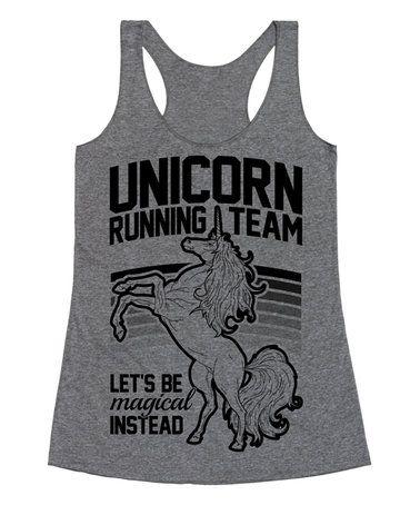 Another great find on #zulily! Heather Gray 'Unicorn Running Team' Racerback Tank - Women #zulilyfinds