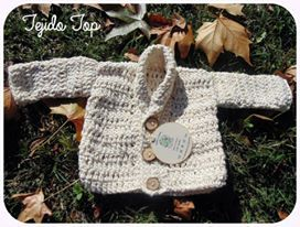 Chaleco de bebe a crochet / Crochet baby cardigan, sweater  Visit www.facebook.com/hilaria.hechoamano pedidos y consultas hilaria.hechoamano@gmail.com