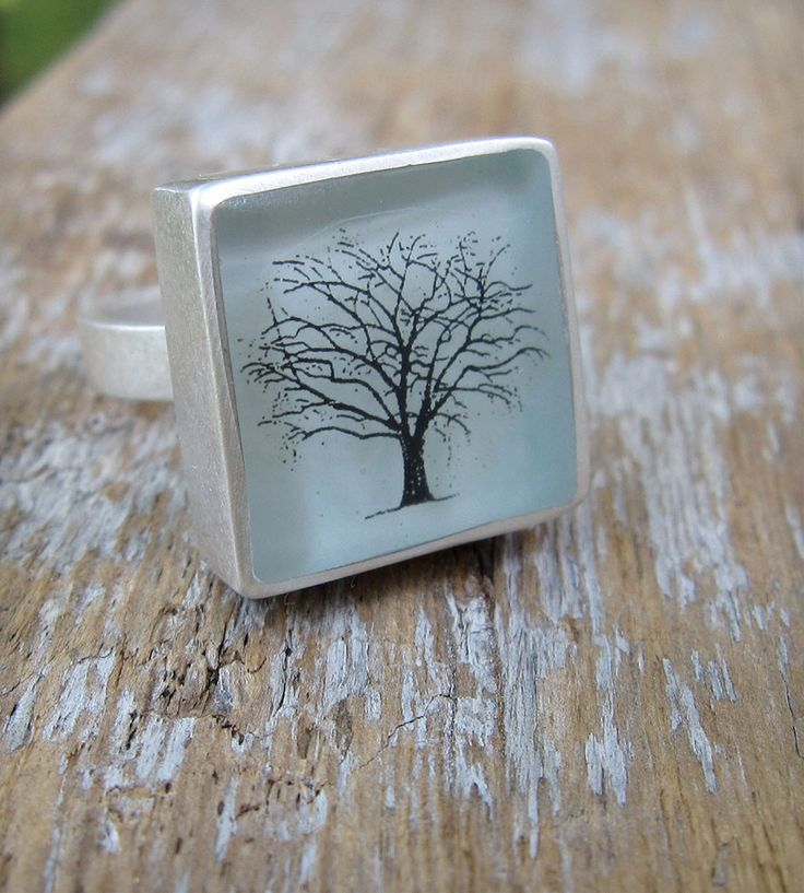 Trees Resin Ring. But, as a pendant, I think.