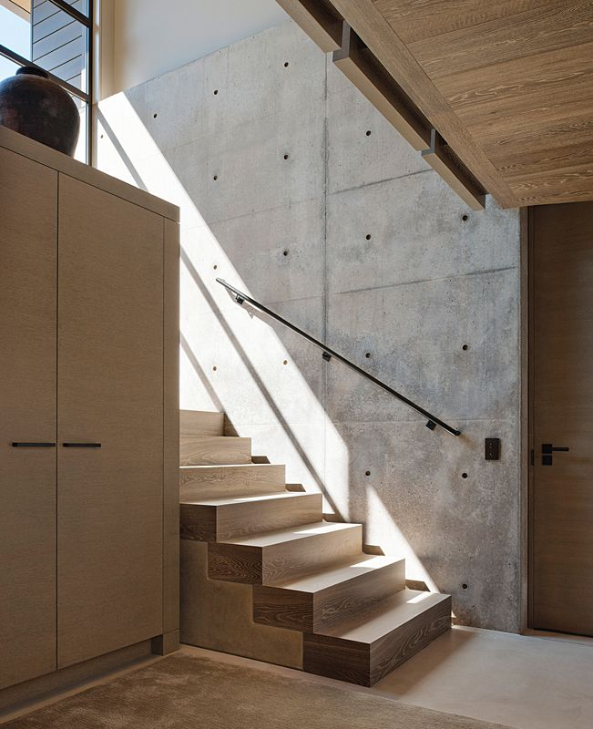 Ceiling, floor and stairs in Manoir Collection - Flemish Gray.