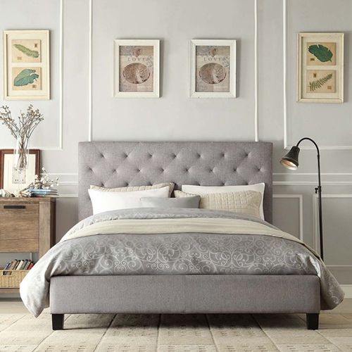 charlotte king size fabric low end bed frame the charlotte low end bed frame is a