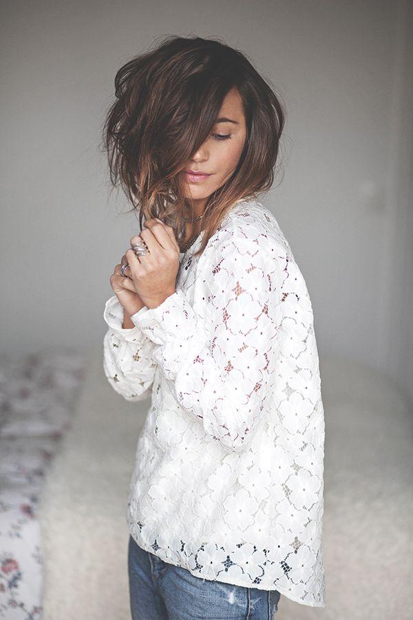 idée de blouse à copier, reste à trouver la dentelle, pas simple