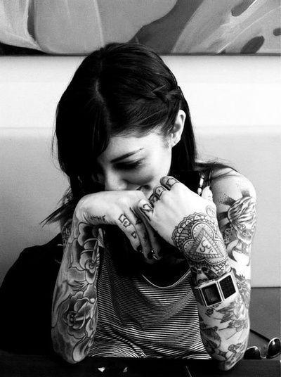 Tatts funny inked girl