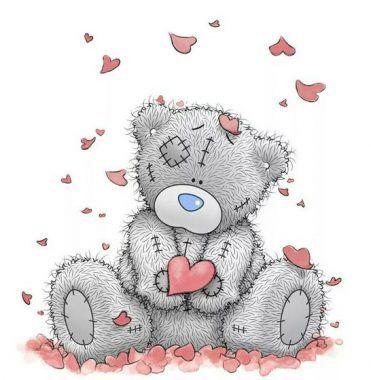 dibujos de osos con corazones romanticos
