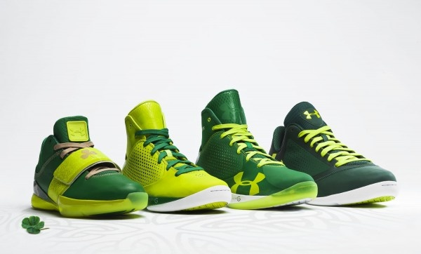 Under Armour Basketball St. Patrick\u0027s Day Collection Dropping this weekend  in celebration of St. Patrick\u0027s Day is a special collection of green  basketball ...