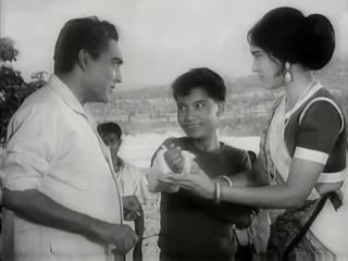 Ashok Kumar and Vyjayanthimala in Hatey Bazarey ( Directed by Tapan Sinha) 1967