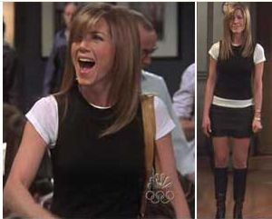 Is it wrong that i get inspiration from rachel green?..no not at all...Jennifer Aniston Wore Her Theory Chaz Sweater Vest