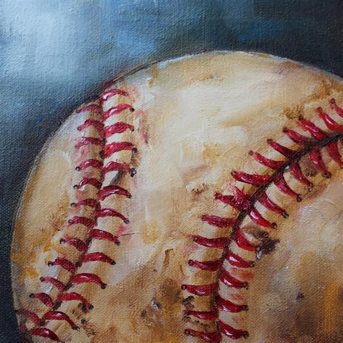 Looking for one-of-a-kind gifts this holiday season? Check out our collection of art under $400 to get started! | Old Baseball by Kristine Kainer | $225