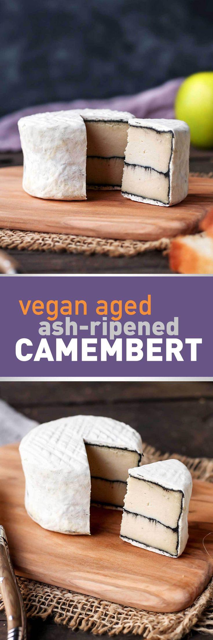 Vegan Ash-Ripened Camembert  ____ Mehr Rezepte die #vegan & #glutenfrei sind findest du unter meinem #Foodblog http://www.foodreich.com/