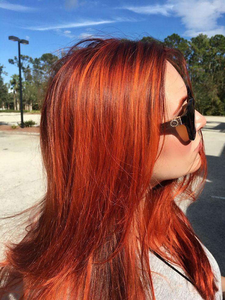 Dimensional red , orange red hair joico b3