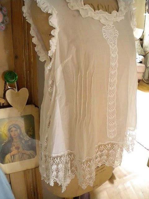 beautiful upcycled lace top - inspiration only