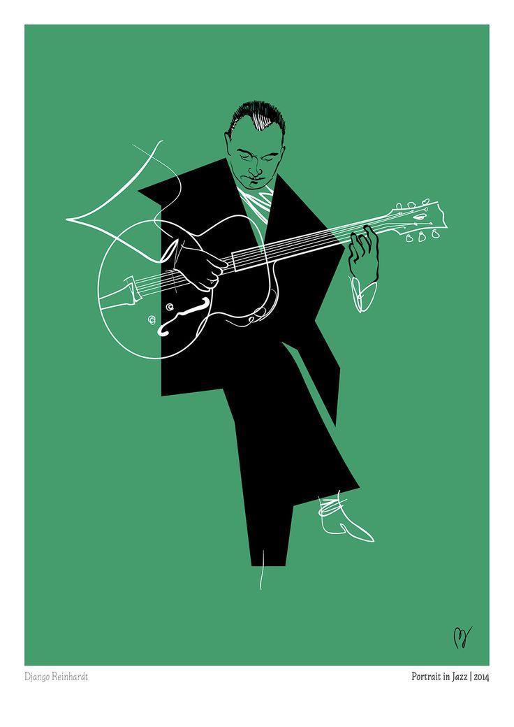 Django Reinhardt by Davide Baroni